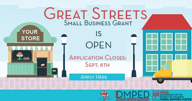 Great Streets Small Business Grant is OPEN