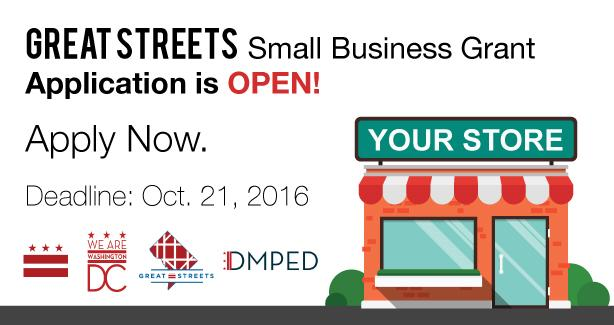 Request for Applications (RFA) Great Streets Small Business Grant